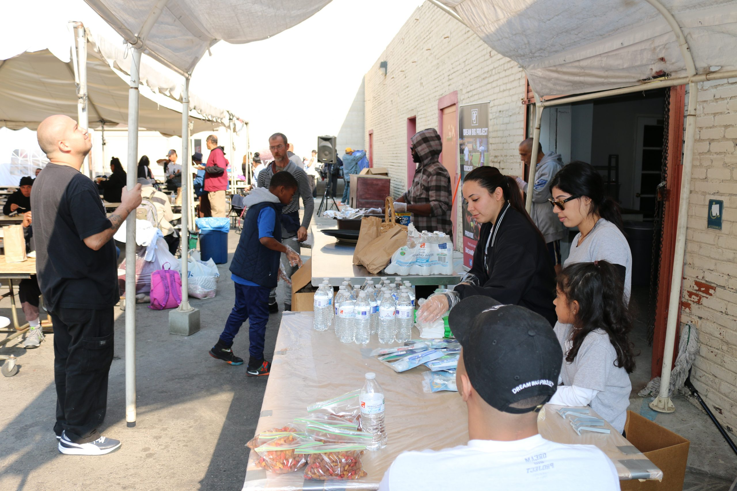 Dream Big Helps the Homeless at Skid Row's Mission and Church